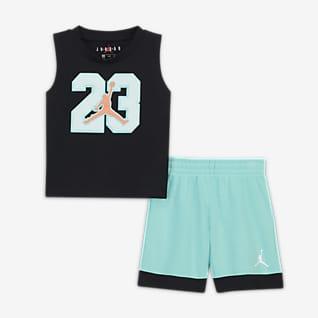 Jordan Conjunto de camiseta de tirantes y shorts para bebé (12-24M)