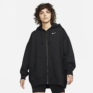 Nike Sportswear Essentials Felpa con cappuccio e zip a tutta lunghezza in fleece - Donna