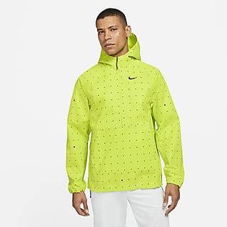 Nike Repel Golfanorak med tryck för män