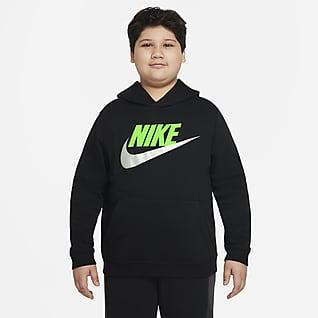 Nike Sportswear Club Fleece Худи для мальчиков школьного возраста (расширенный размерный ряд)