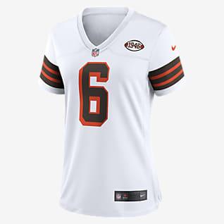 NFL Cleveland Browns (Baker Mayfield) Women's Game Football Jersey