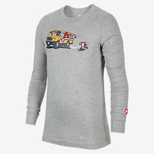 Nike Sportswear Playera de manga larga para niños grandes