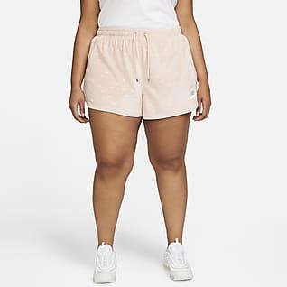 Nike Air Women's Velour Mid-Rise Shorts (Plus Size)