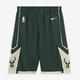 Milwaukee Bucks Icon Edition Kraťasy Nike NBA Swingman pro větší děti