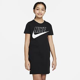 Nike Sportswear Vestido playera para niña talla grande