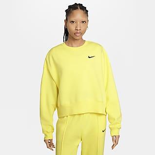 Nike Sportswear Top corto de tejido Fleece para mujer