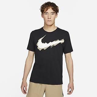 Nike Dri-FIT Sport Clash เสื้อยืดเทรนนิ่งผู้ชายมีโลโก้