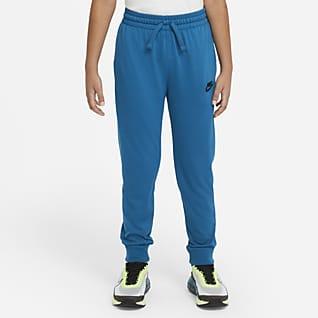 Nike Sportswear Pantalones de entrenamiento de tejido de punto de algodón para niño talla grande