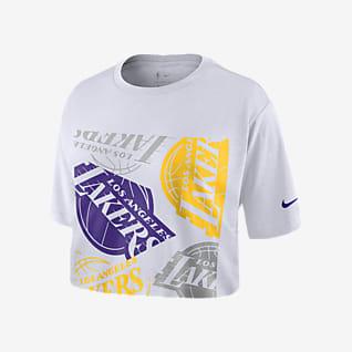 Lakers Logo Женская укороченная футболка Nike НБА