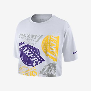 Lakers Logo Nike NBA-Crop-T-Shirt für Damen