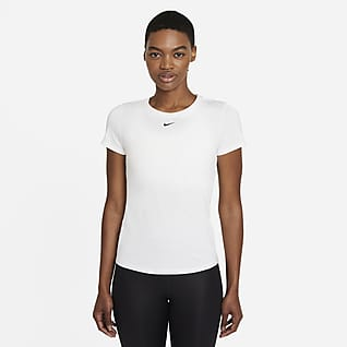 Nike Dri-FIT One Kurzarm-Oberteil in schmaler Passform für Damen