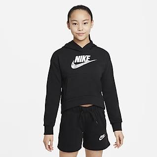 Nike Sportswear Club Sudadera con capucha para niñas talla grande