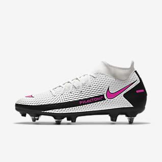 Nike Phantom GT Academy Dynamic Fit SG-PRO Anti-Clog Traction Fotballsko til vått gress