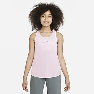 Nike Dri-FIT One Luxe Camiseta de tirantes de entrenamiento para niñas talla grande