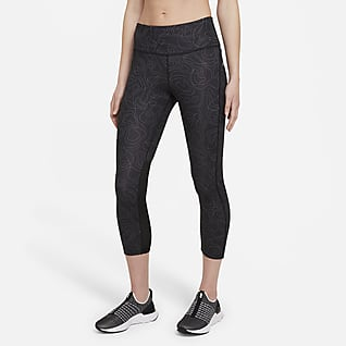 Nike Fast Run Division Dámské zkrácené běžecké legíny se středně vysokým pasem