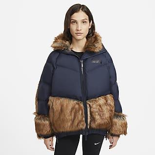 Nike x sacai 女款防寒大衣