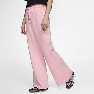 pantaloni nike donna rosa