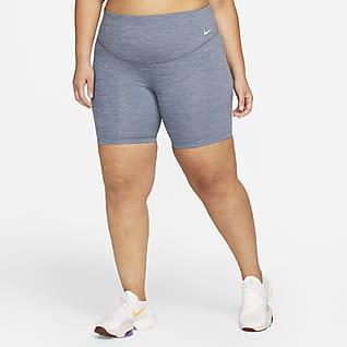 Nike One Shorts de ciclismo de 18 cm de tiro medio para mujer talla grande