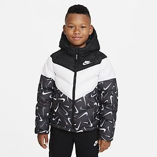 Nike Sportswear Therma-FIT Chamarra estampada con relleno sintético para niños talla grande