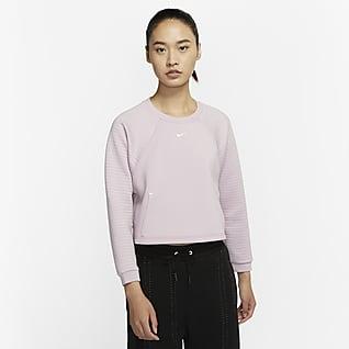 Nike Pro Sudadera de tejido Fleece para mujer