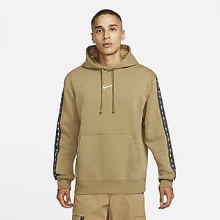 Nike Sportswear Belebújós, kapucnis polár férfipulóver