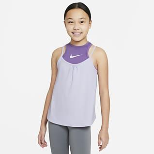 Nike Dri-FIT Camiseta de tirantes de entrenamiento para niñas talla grande 2-en-1