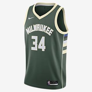 Giannis Antetokounmpo Bucks Icon Edition 2020 Camisola NBA da Nike Swingman