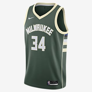 Giannis Antetokounmpo Bucks Icon Edition 2020 Nike NBA Swingman Trikot