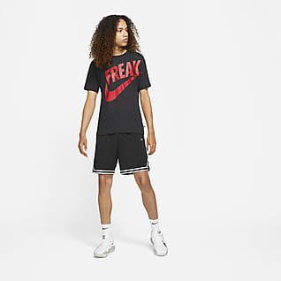 """ナイキ Dri-FIT ヤニス """"Freak"""" メンズ プリンテッド バスケットボール Tシャツ"""