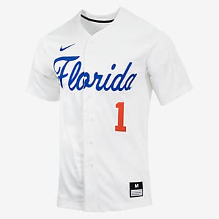 Nike College (Florida) Men's Full-Button Baseball Jersey