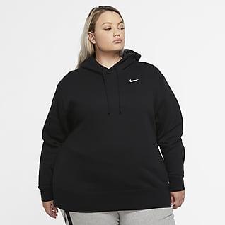 Nike Sportswear Женская флисовая худи (большие размеры)