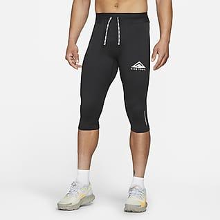 Nike Dri-FIT Tights de running para trilhos a 3/4 para homem