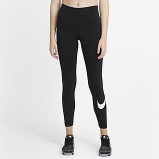 Nike Sportswear Essential Swoosh-leggings med mellomhøyt liv til dame