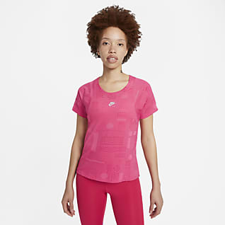 Nike Air Dri-FIT Playera de running de manga corta para mujer