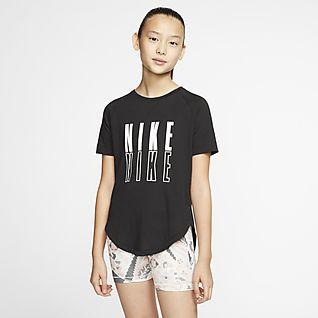 Nike Trophy Big Kids' (Girls') Short-Sleeve Graphic Training Top