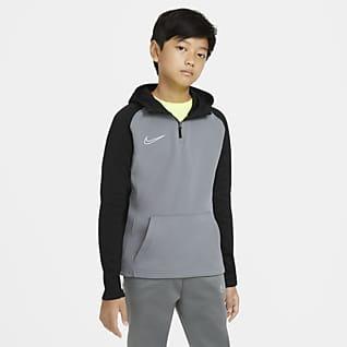 Nike Dri-FIT Academy Sweat à capuche d'entraînement de football à 1/4 de zip pour Enfant plus âgé