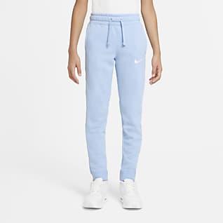 Nike Sportswear Swoosh Pantalones de vellón para niños talla grande
