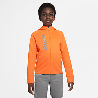 Nike Therma-FIT Big Kids' (Boys) Graphic Full-Zip Training Hoodie