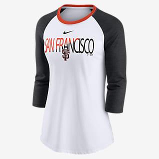 Nike Color Split (MLB San Francisco Giants) Women's 3/4-Sleeve T-Shirt