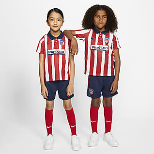 Atlético de Madrid 2020/21 (hjemmedrakt) Fotballdraktsett til små barn