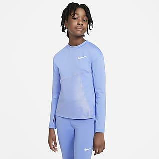 Nike Pro Warm Футболка для тренинга для девочек школьного возраста