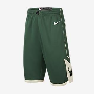 Milwaukee Bucks Icon Edition Nike NBA Swingman-shorts til store børn