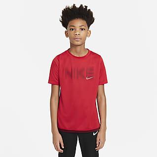 Nike Trophy Prenda para la parte superior estampada de manga corta para niño talla grande