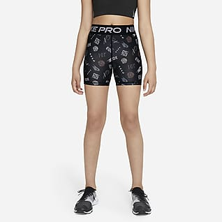 Nike Pro Dri-FIT Kraťasy v klukovském stylu pro větší děti (dívky)