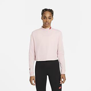 Nike Sportswear Playera de cuello alto de manga larga para mujer