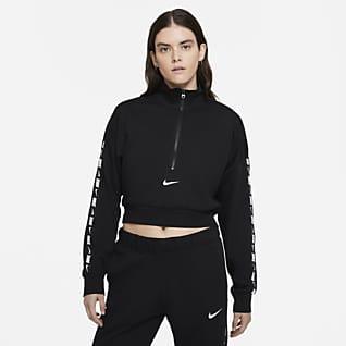 Nike Sportswear Essential Женская укороченная флисовая футболка