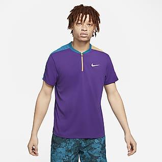 NikeCourt Breathe Slam Ανδρική μπλούζα πόλο για τένις