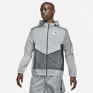 Nike Repel Wild Run Windrunner Løpejakke med grafikk til herre