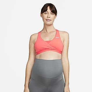 Nike (M) Swoosh Gepolsterter Sport-BH mit mittlerem Halt für Damen (Mutterschaftsbekleidung)