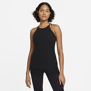 Nike Yoga Pointelle Singlet til dame